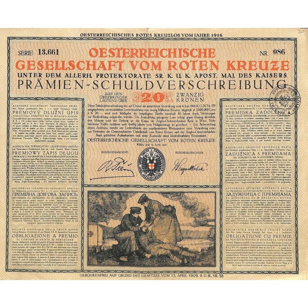 1916 - OSTERR. GESELLSCHAFT VOM ROTEN...