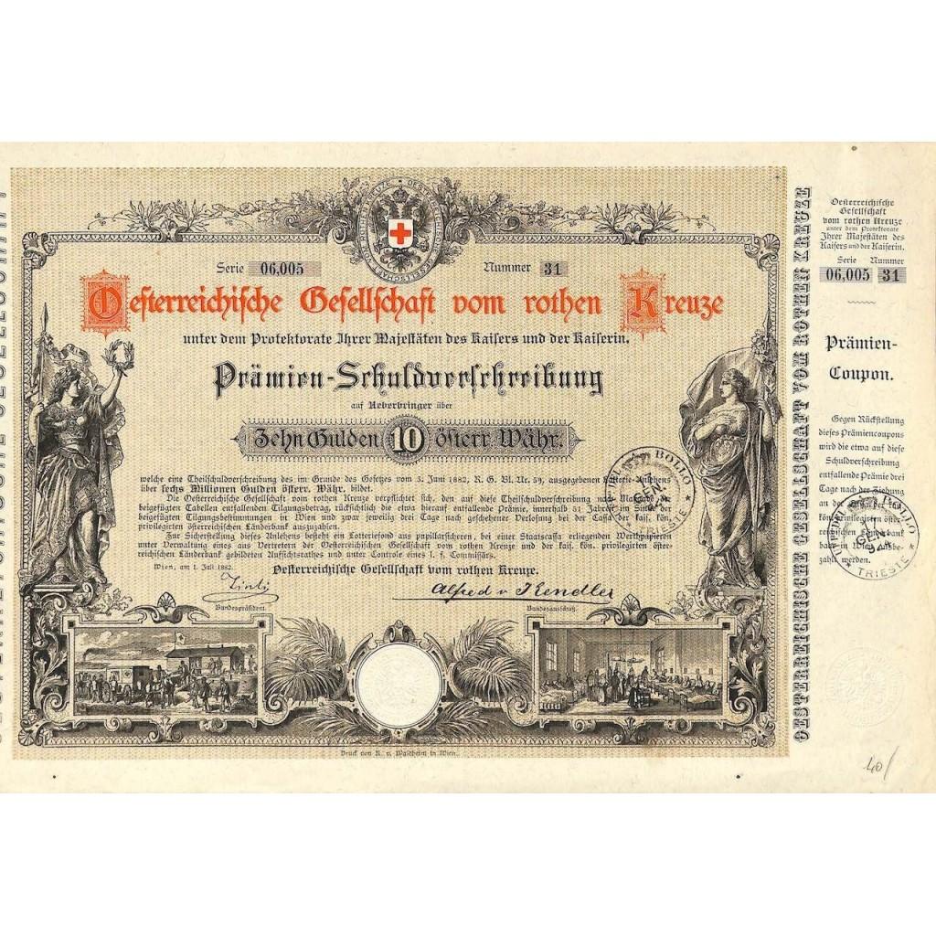1882 - OSTERR. GESELLSCHAFT VOM ROTEN...
