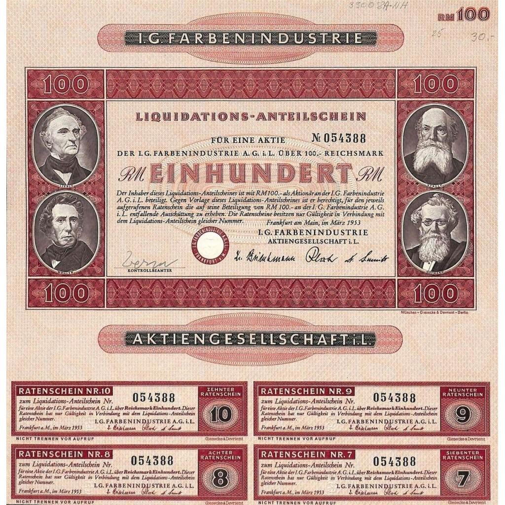 1953 - I. G. FARBENINDUSTRIE