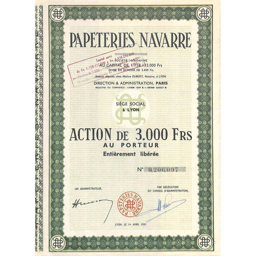 1951 - PAPETERIES NAVARRE