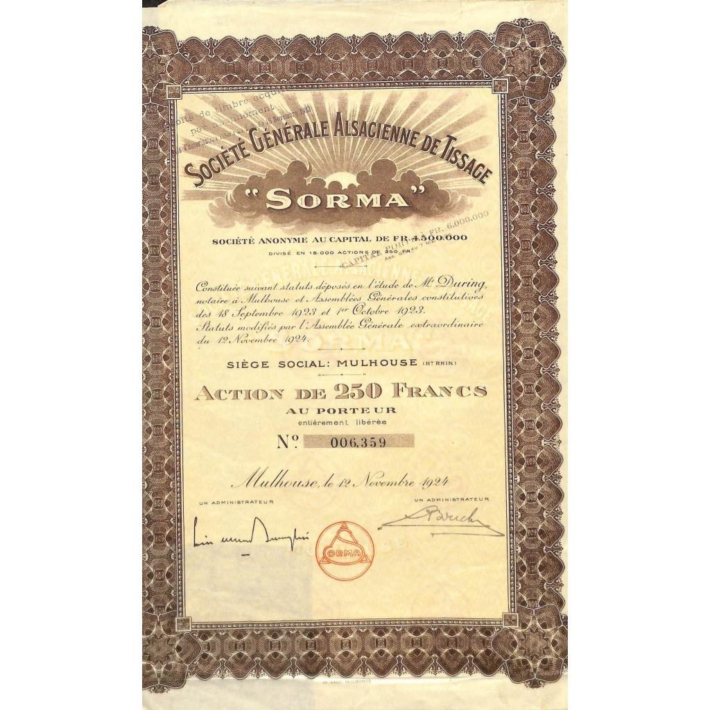 1924 - SORMA - SOC. GENERALE...