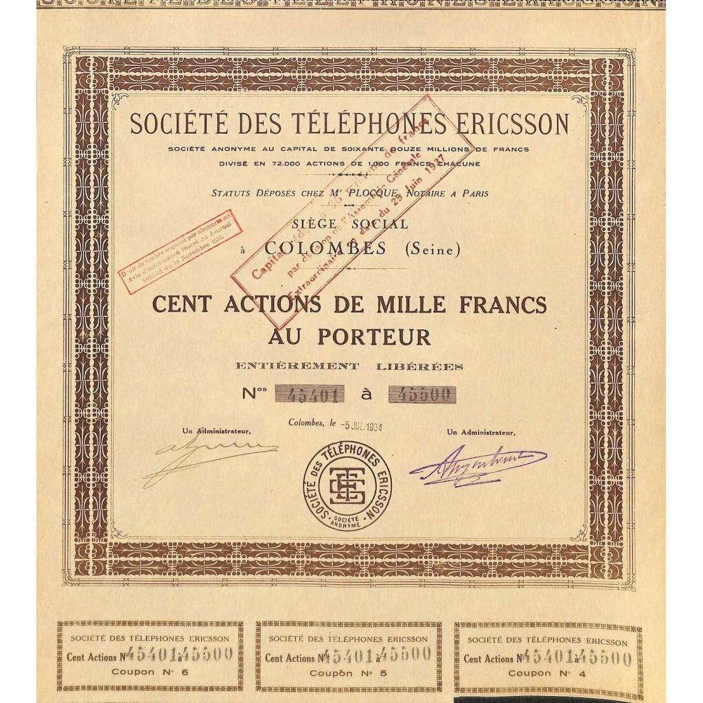 1934 - TELEPHONES ERICSSON SOC. DES