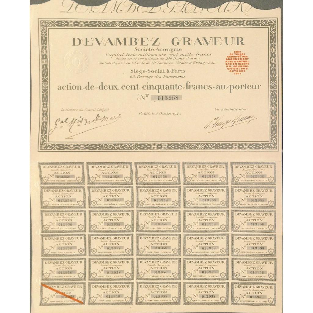 1927 - DEVAMBEZ GRAVEUR