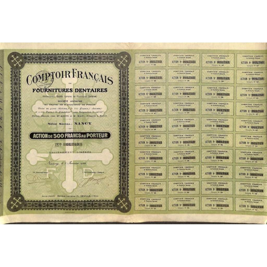 1922 - COMPTOIR FRANCAIS DE...