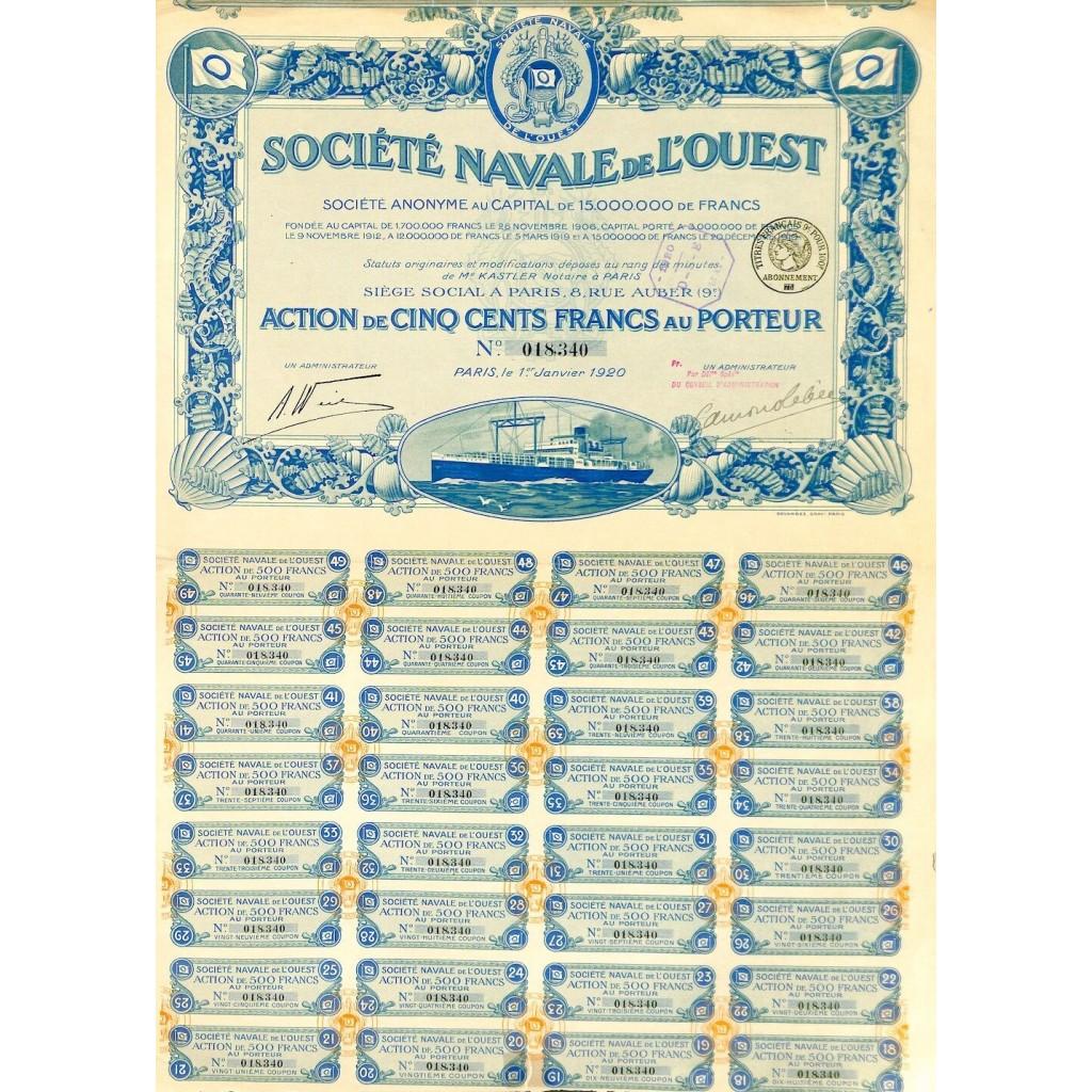 1920 - NAVALE DE L'OUEST SOC.