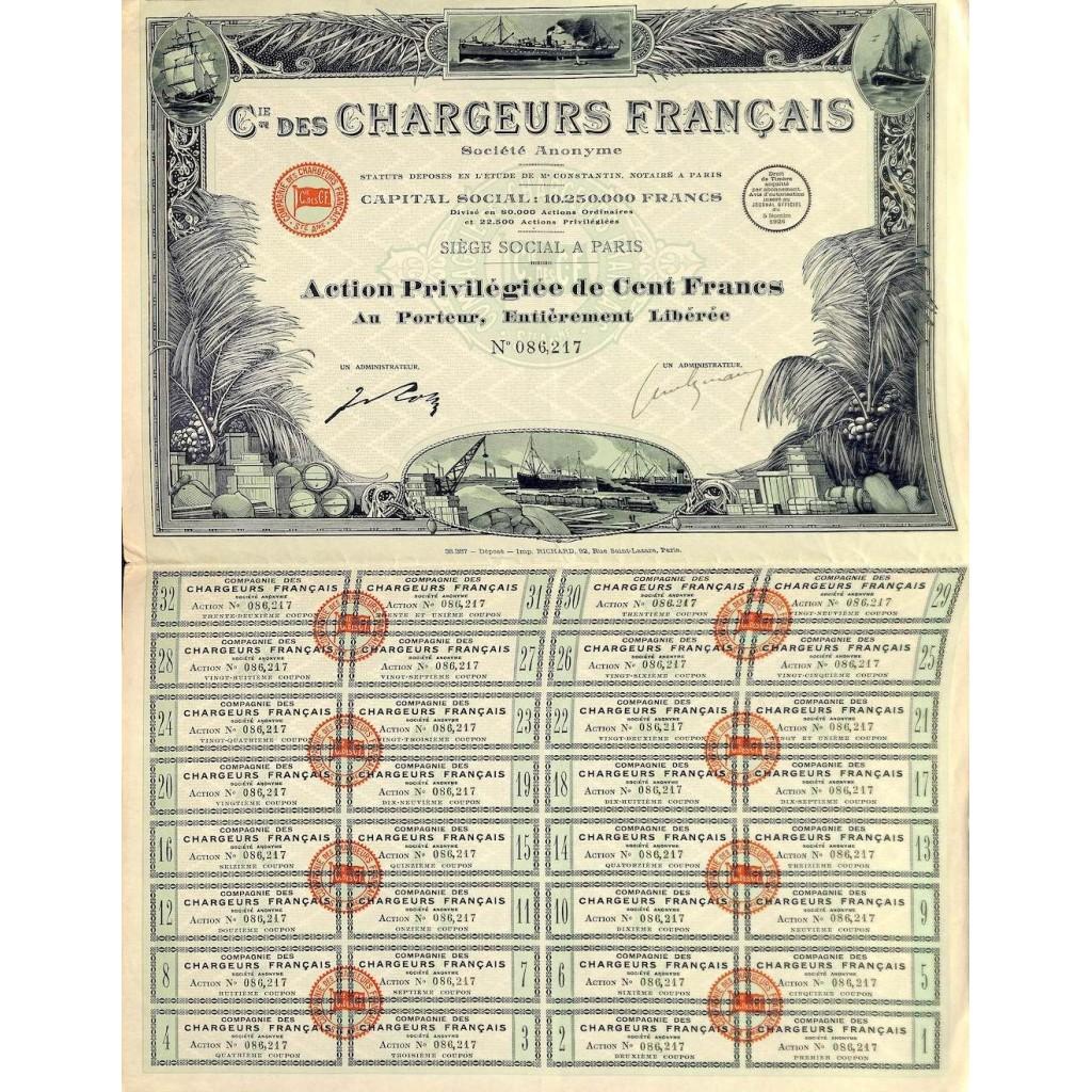 1926 - CHARGEURS FRANCAIS C.IE DES