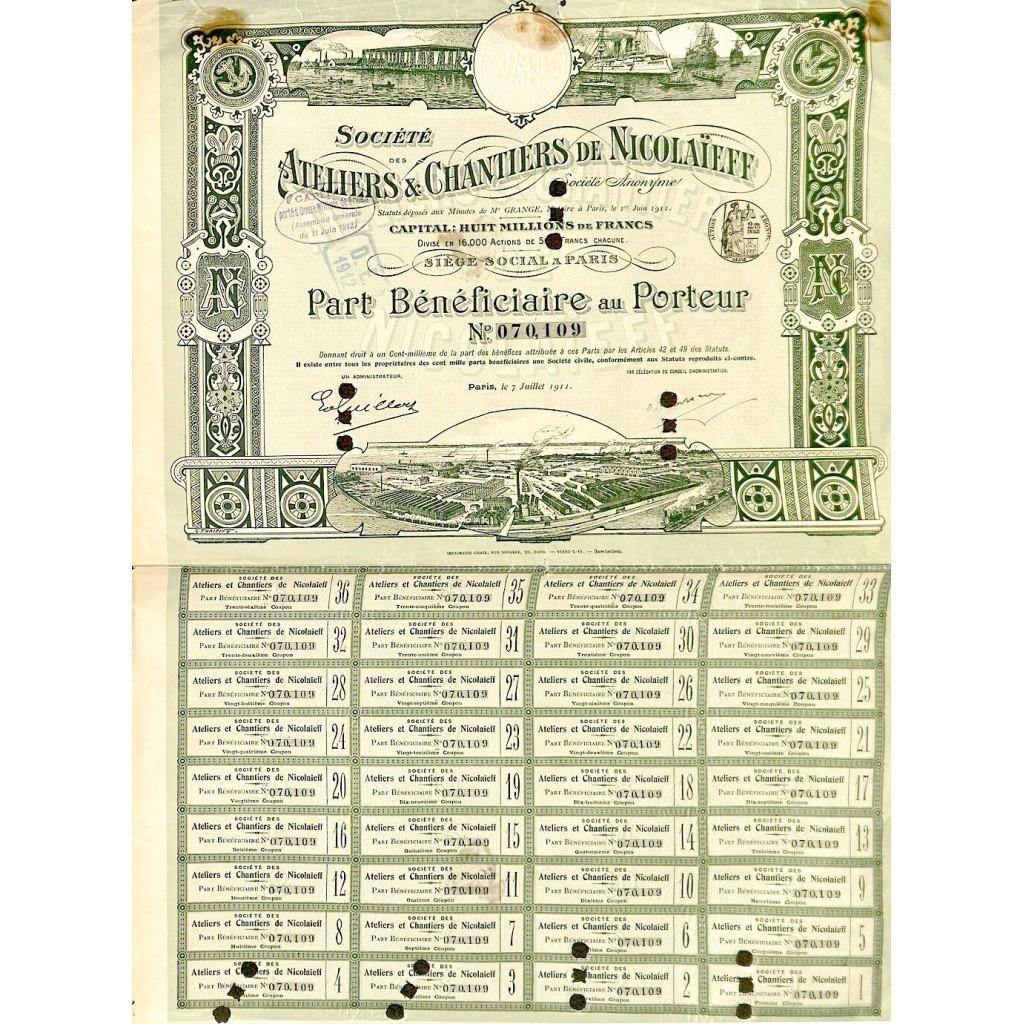 1911 - ATELIERS ET CHANTIERS DE...