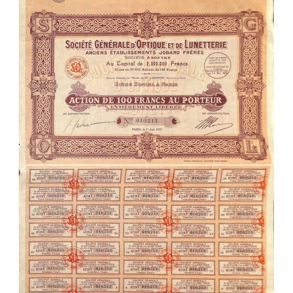 1925 - GENERALE D'OPTIQUE ET DE...