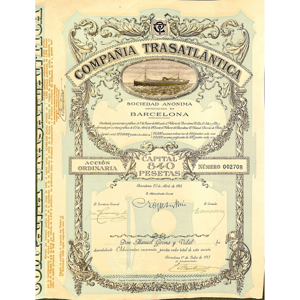 1913 - COMPANIA TRASATLANTICA