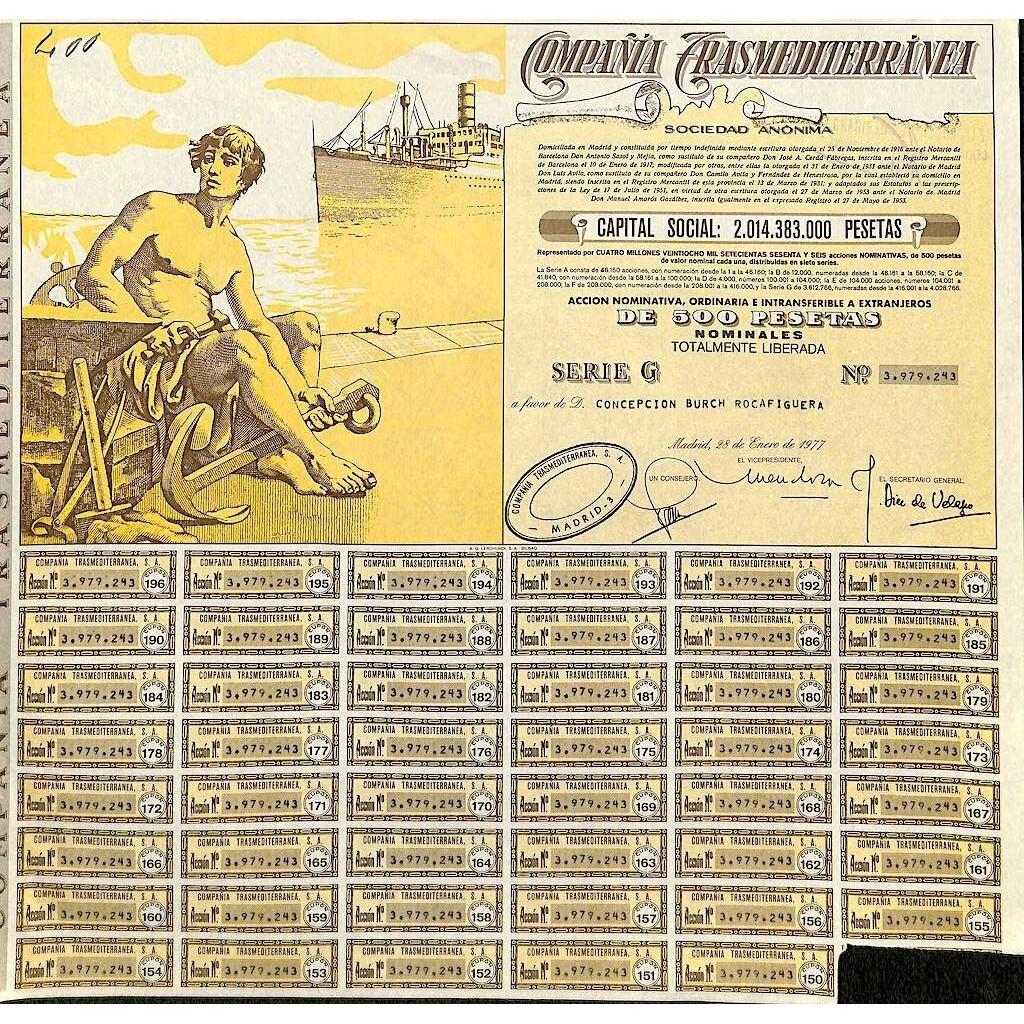 1977 - TRANSMEDITERRANEA COMPANIA