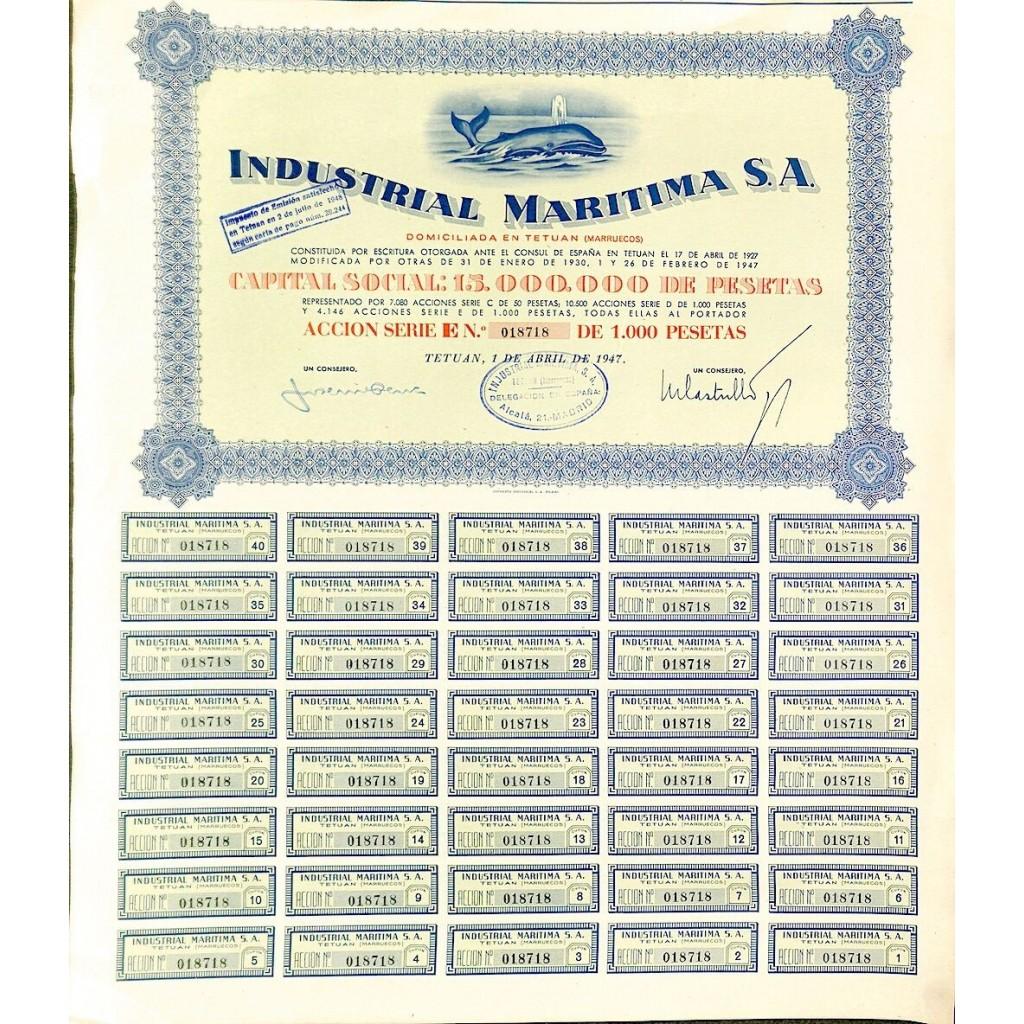 1947 - INDUSTRIAL MARITIMA S. A.