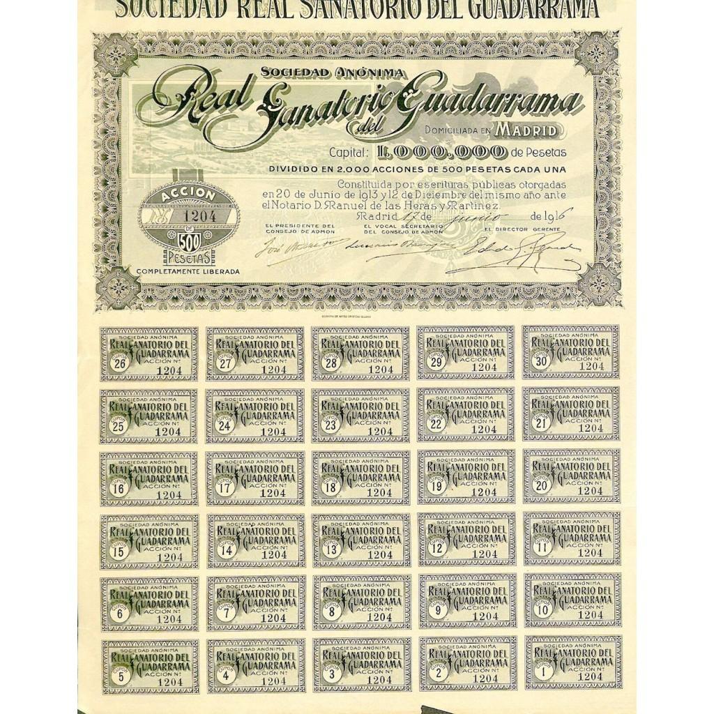 1916 - REAL SANATORIO DEL GUADARRAMA...