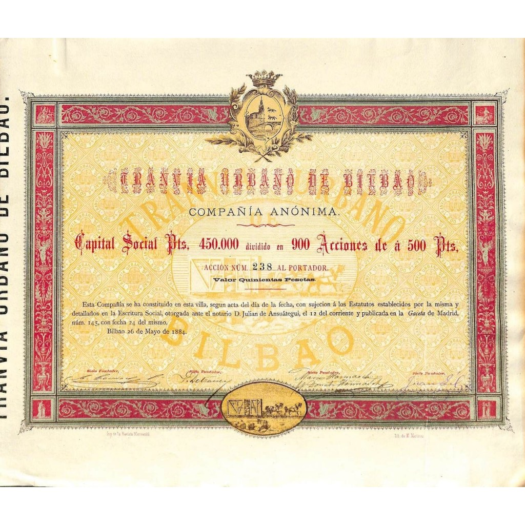 1884 - TRANVIA URBANO DE BILBAO