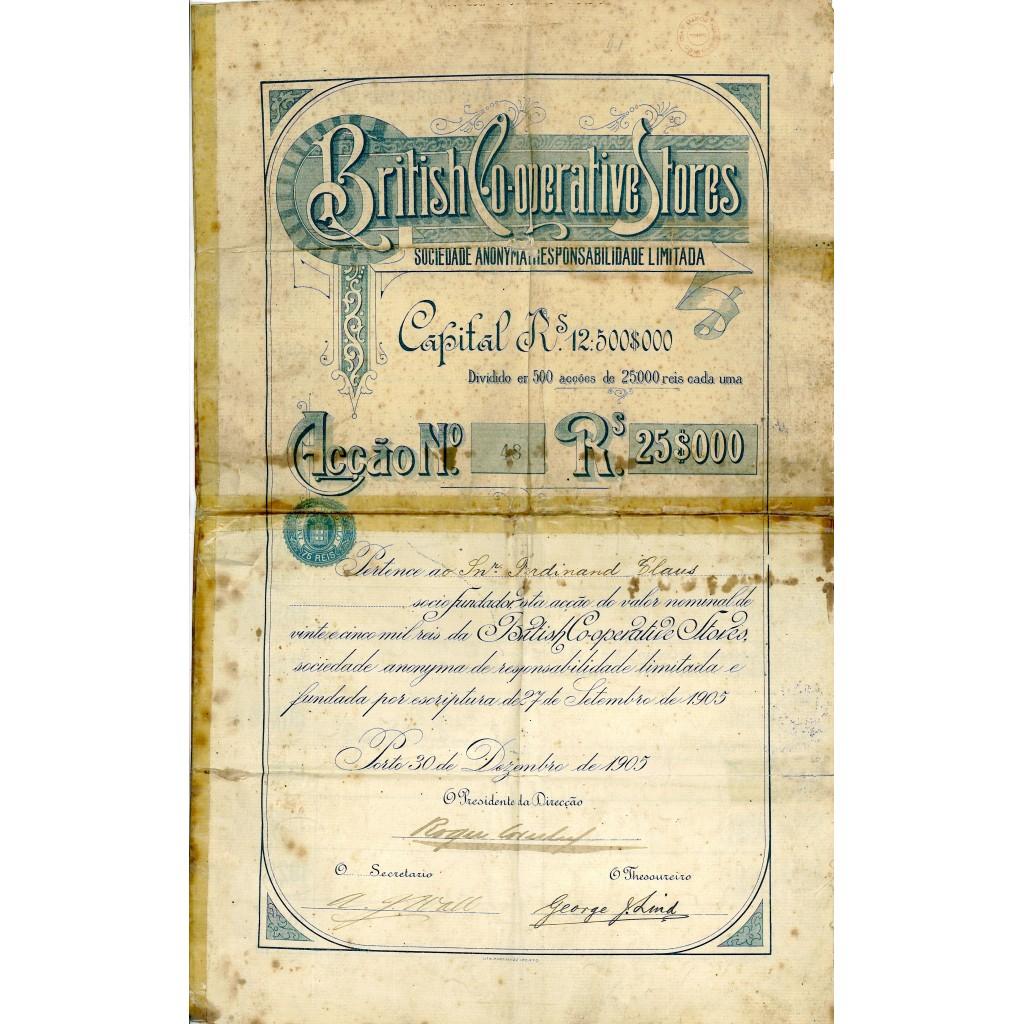 1905 - BRITISH COOPERATIVE STORES