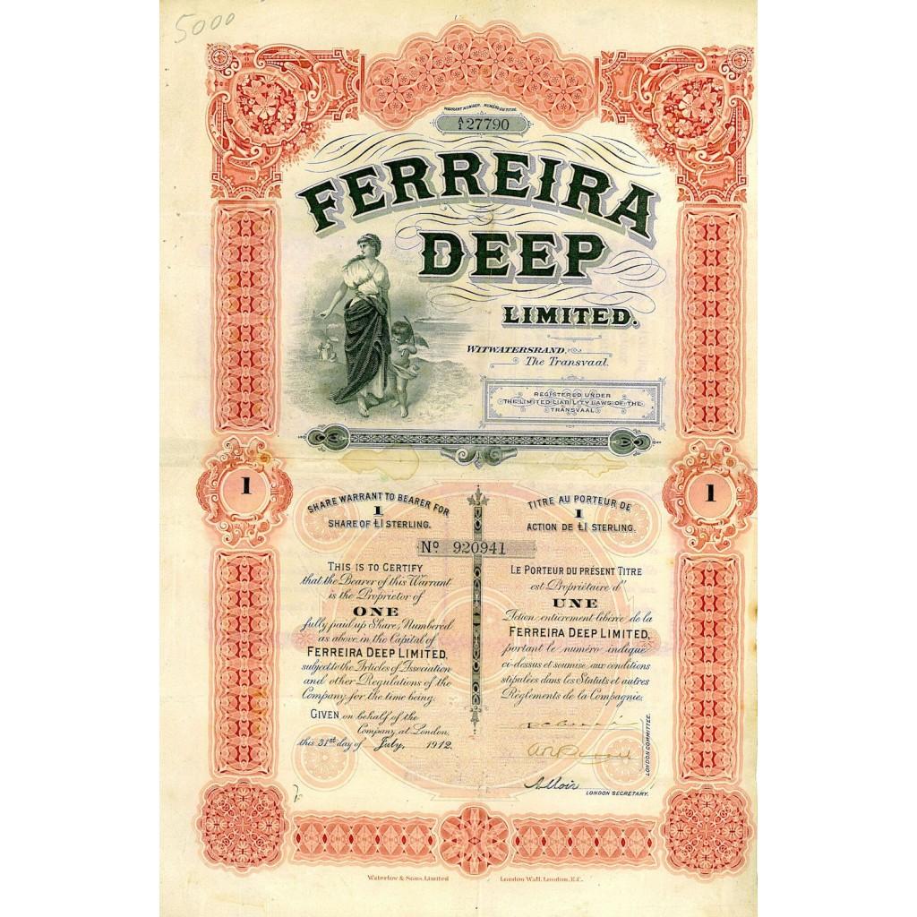 1912 - FERREIRA DEEP LIMITED