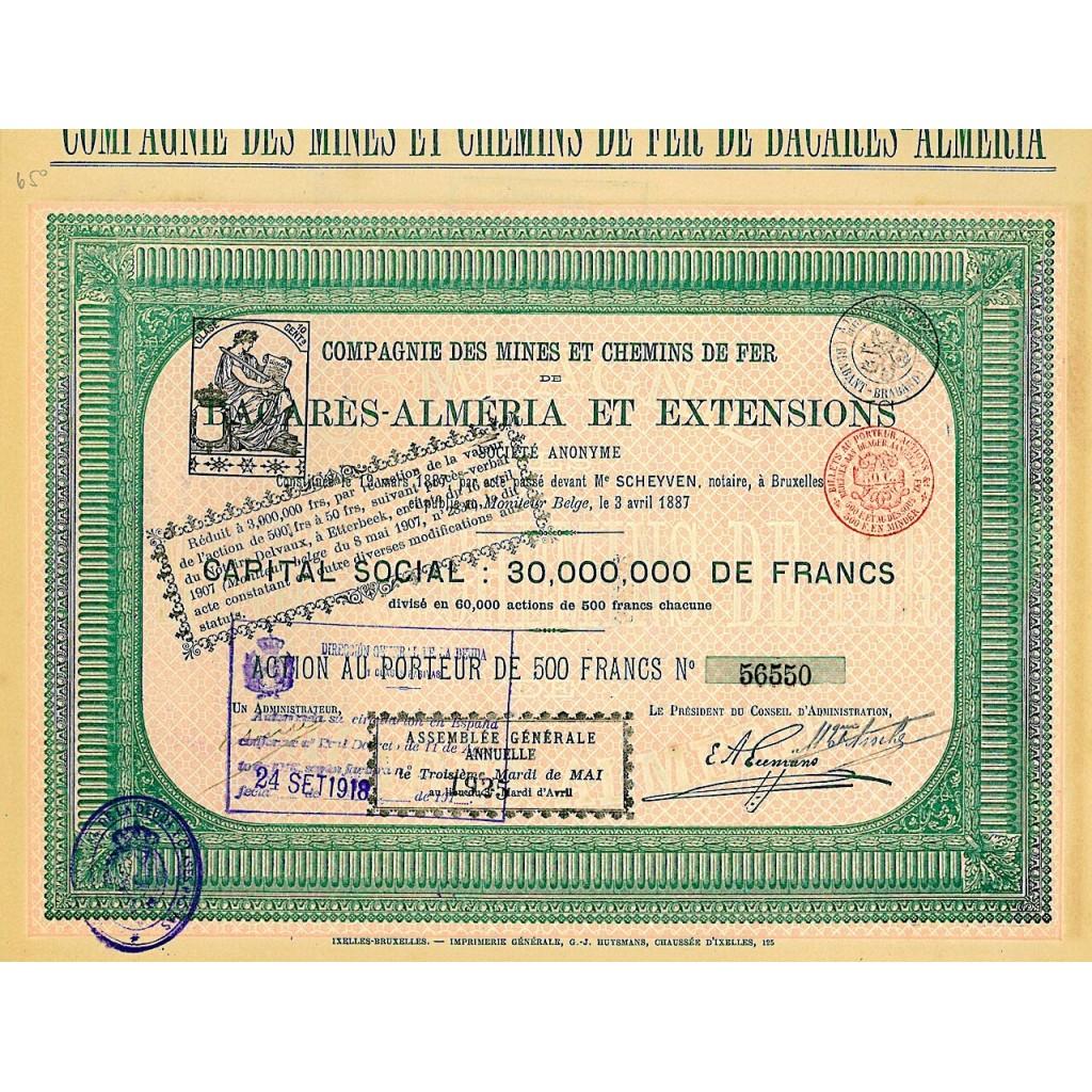 1887 - MINES ET CHEMINS DE FER DE...