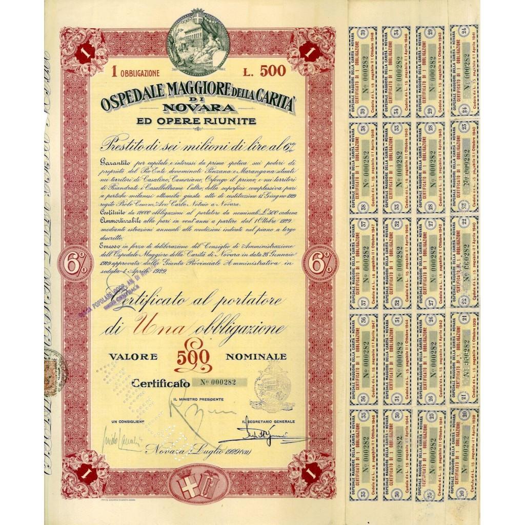 1929 - OSPEDALE MAGGIORE DELLA...