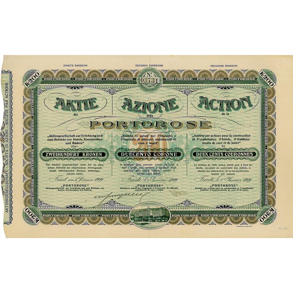 1909 - PORTOROSE PER IMPIANTO ED...