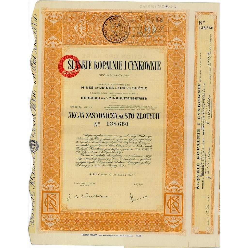 1937 - SLASKIE KOPALNIE I CYNKOWNIE