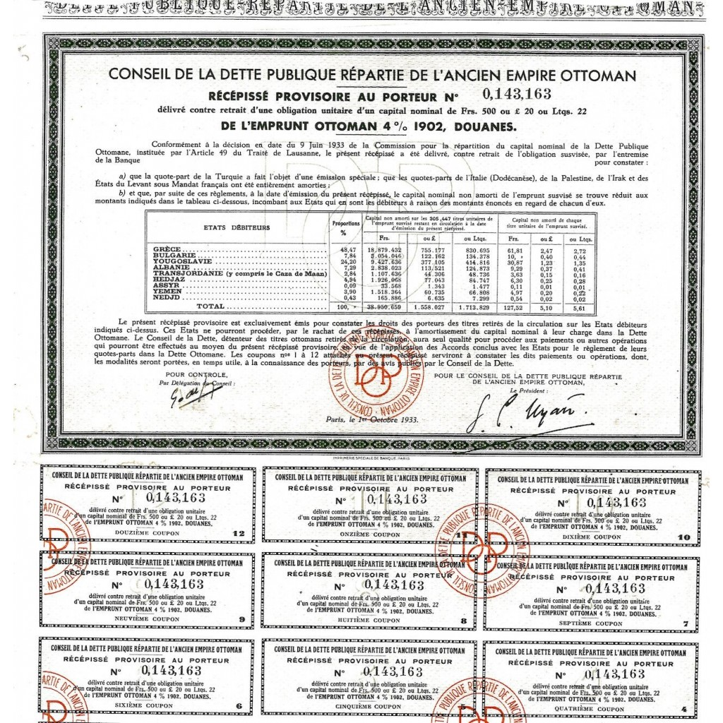 1933 - CONSEIL DE LA DETTE PUBLIQUE...