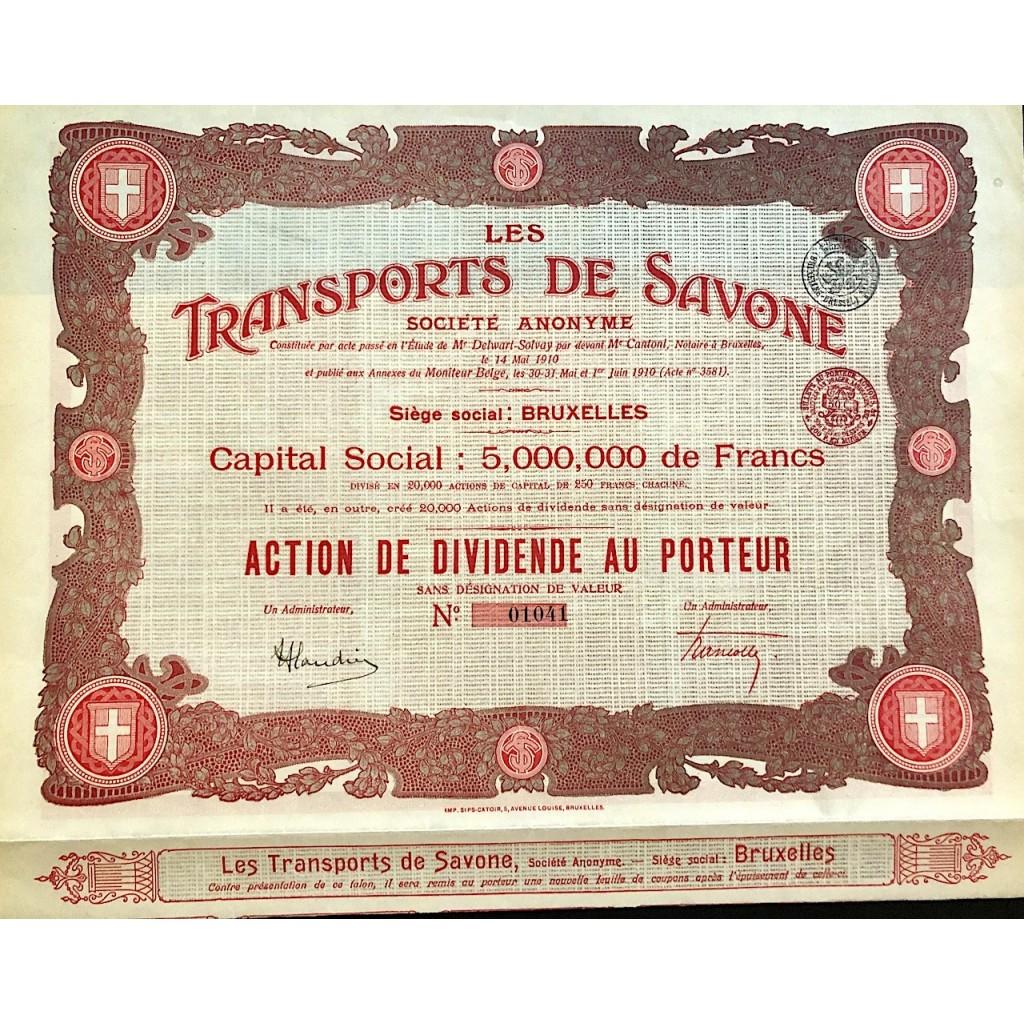 1910 - LES TRANSPORTS DE SAVONE...