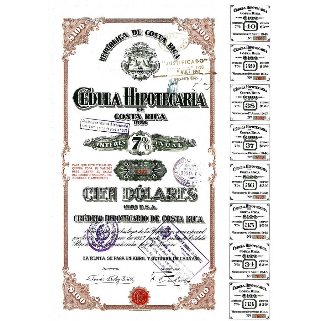 1928 - REPUBLICA DE COSTA RICA -...