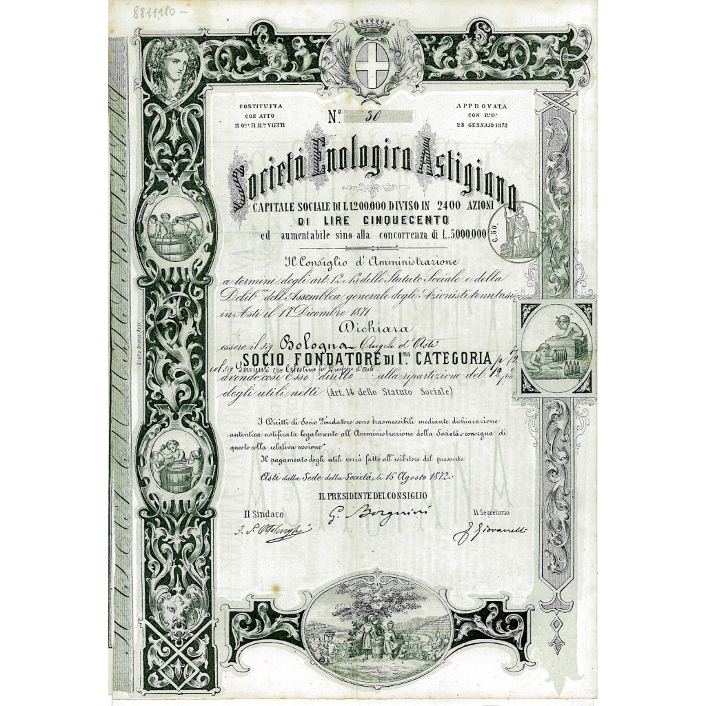 1872 - ENOLOGICA ASTIGIANA SOC....