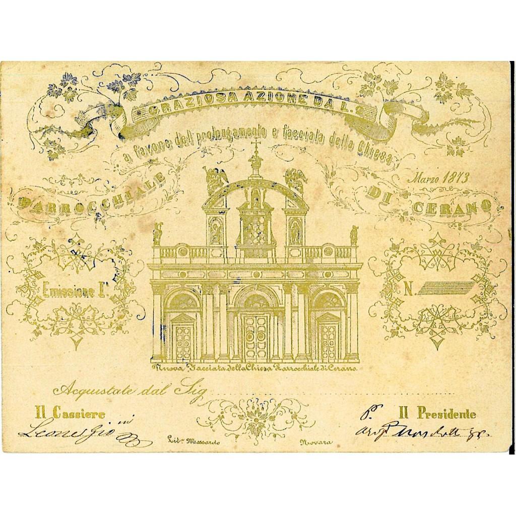 1873 - A FAVORE DEL PROLONGAMENTO E...