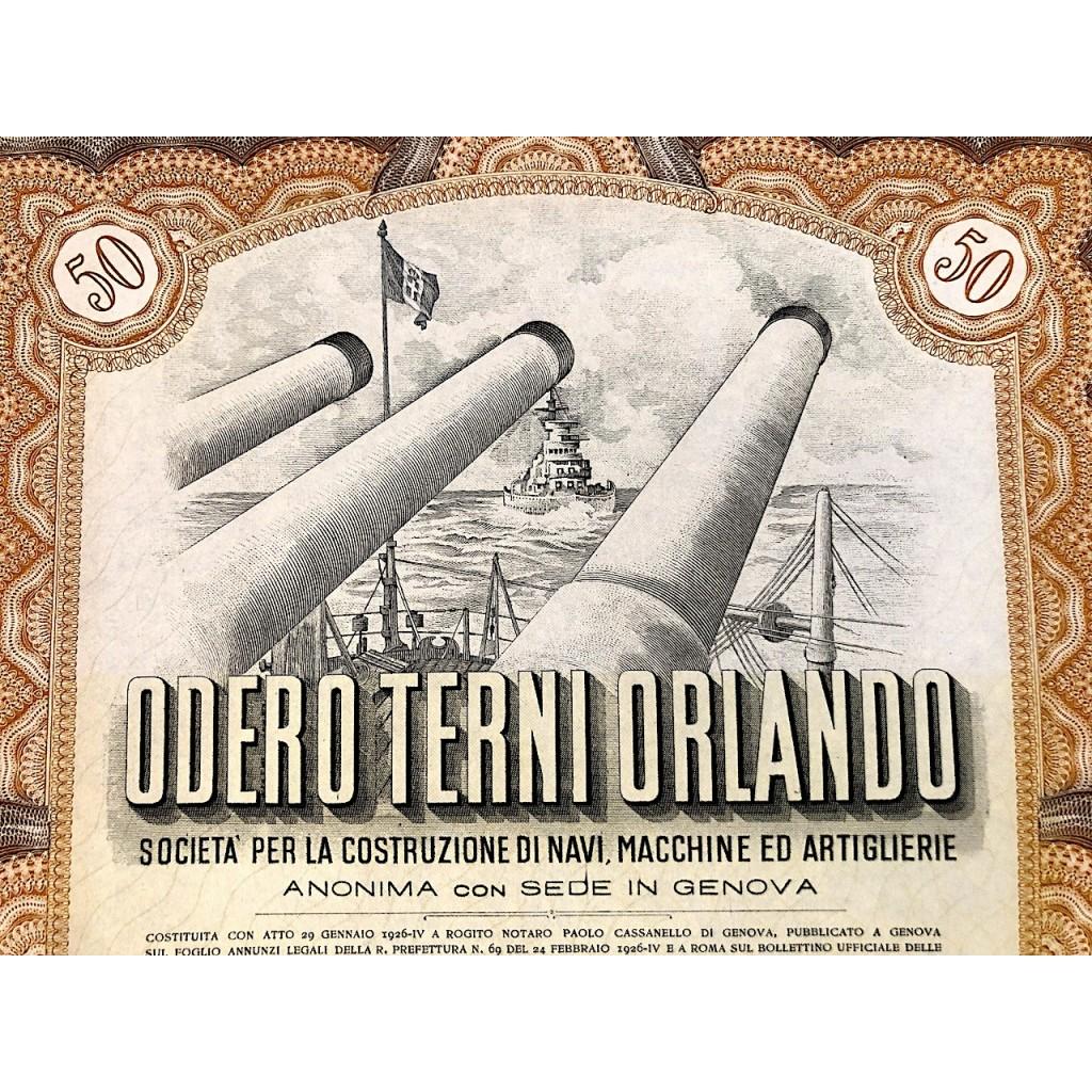 1940 Odero Terni Orlando 50 Azioni Genova