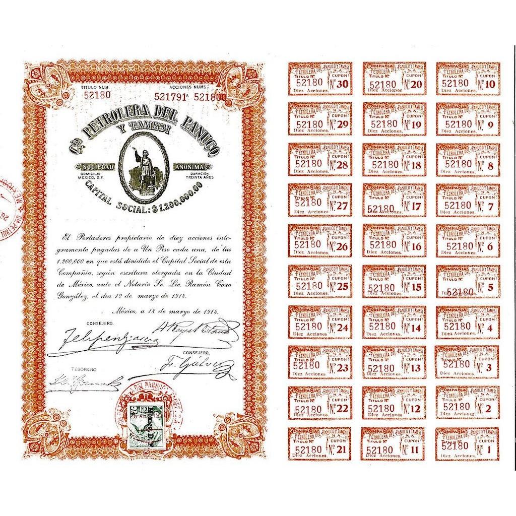 1914 - PETROLERA DEL PANUCO Y TAMESI...