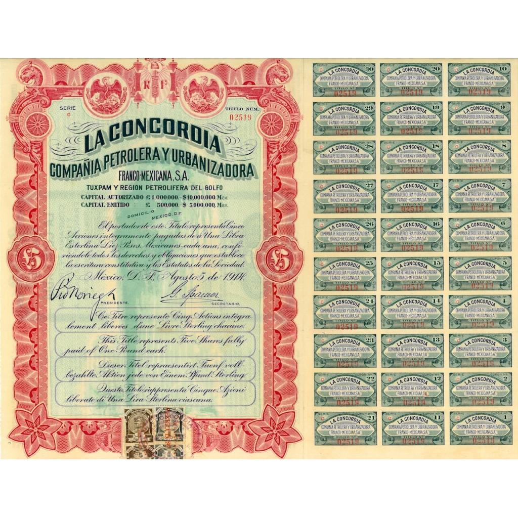1914 - LA CONCORDIA - COMP. PETROLERA...