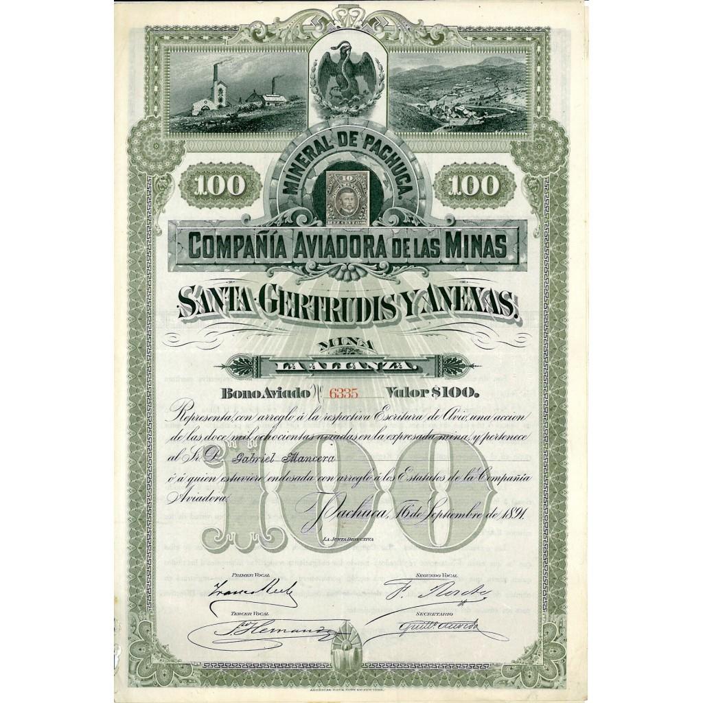 1891 - MINERAL DE PACHUCA - COMP....