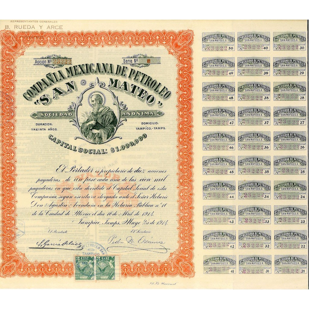 1914 - COMP. MEXICANA DE PETROLEO SAN...