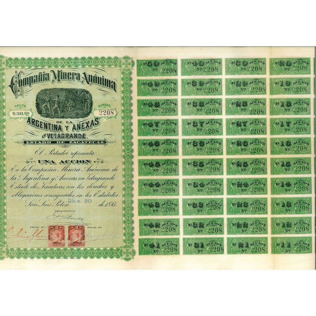 1895 - MINERA ANONIMA DE LA ARGENTINA...