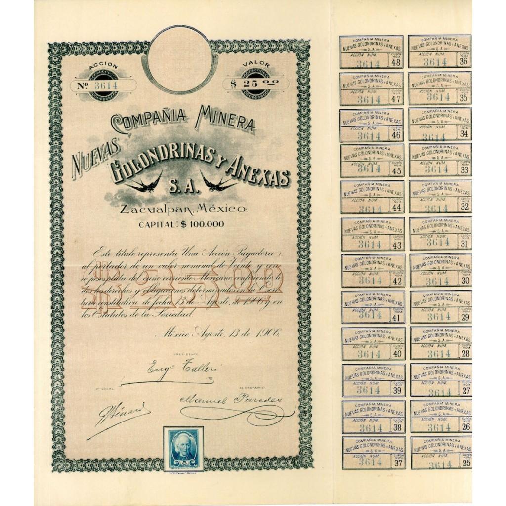 1906 - NUEVAS GOLONDRINAS Y ANEXAS...