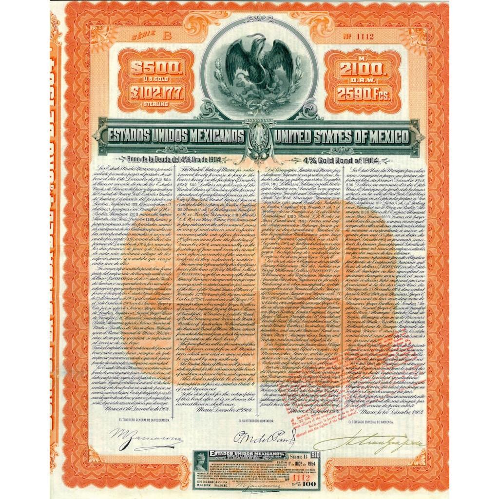 1904 - ESTADOS UNIDOS MEXICANOS -...