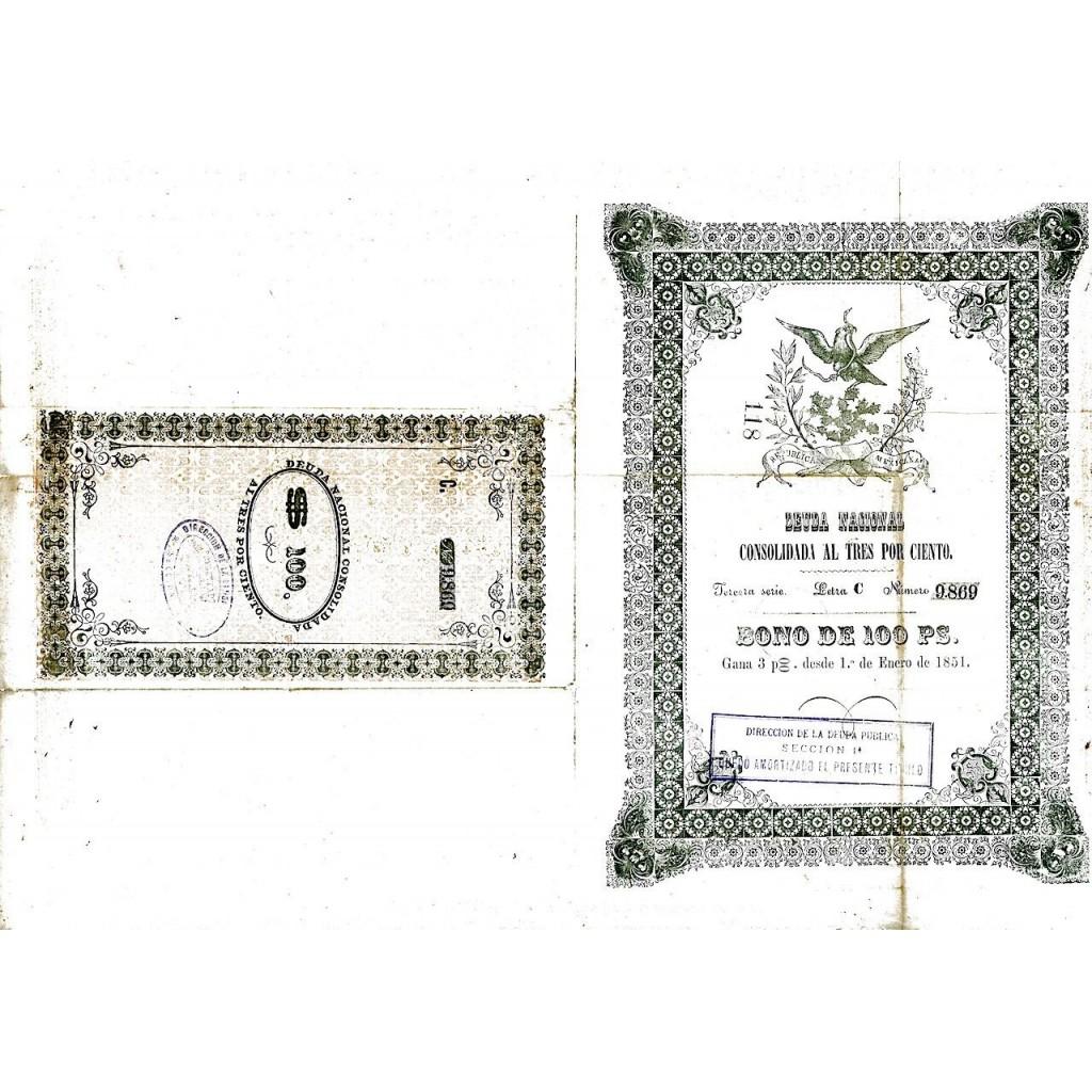 1851 - REPUBLICA MEXICANA - DEUDA...
