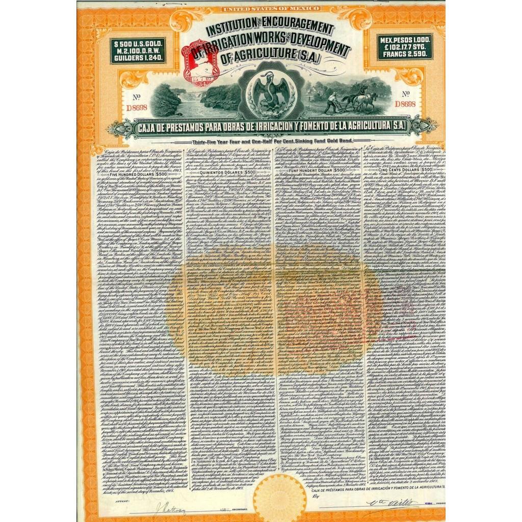1908 - INSTITUTION FOR ENCOURAGEMENT...