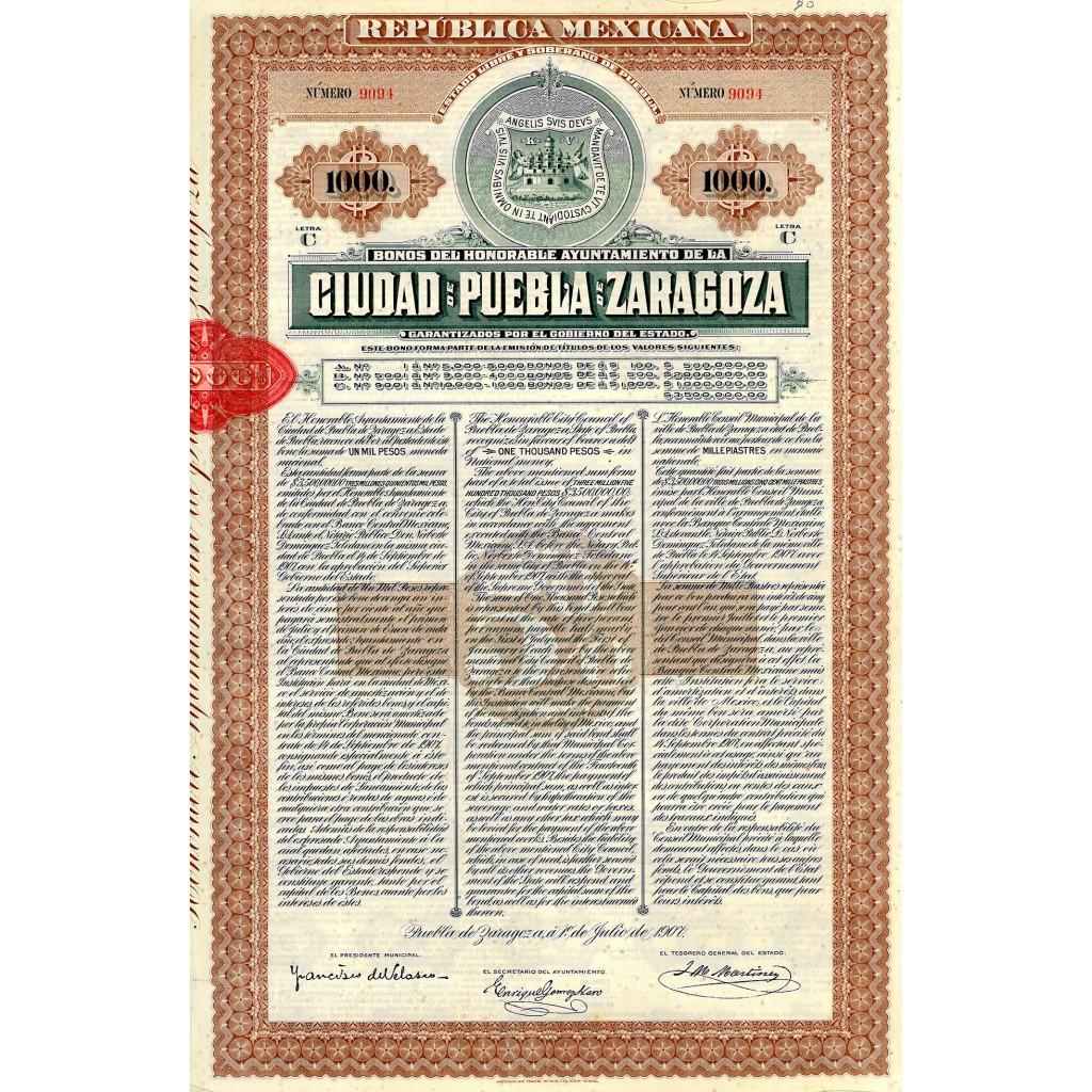 1907 - REPUBLICA MEXICANA - CIUDAD DE...