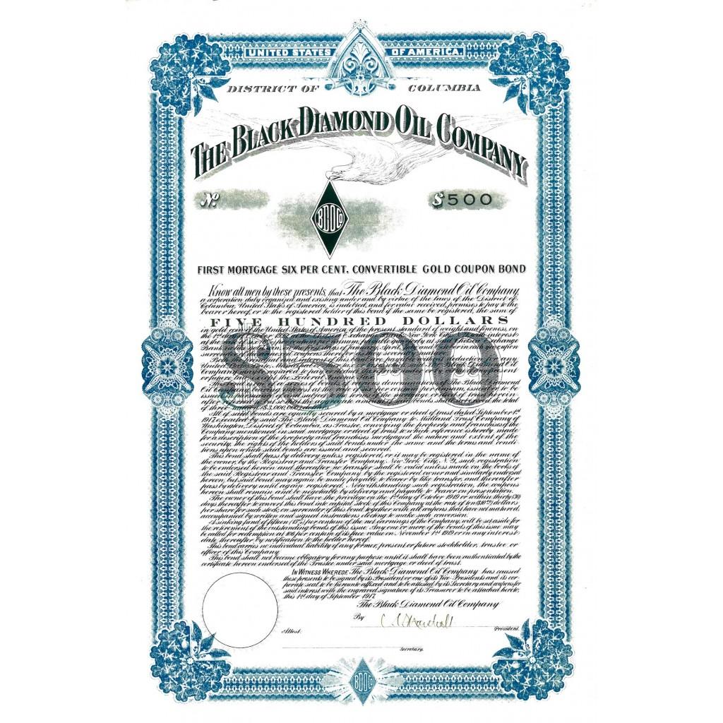 1917 - THE BLACK DIAMOND OIL COMPANY...