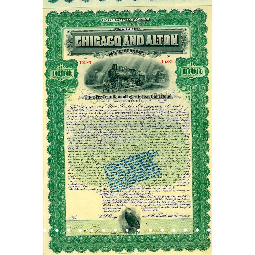 1899 - THE CHICAGO AND ALTON RAILROAD...