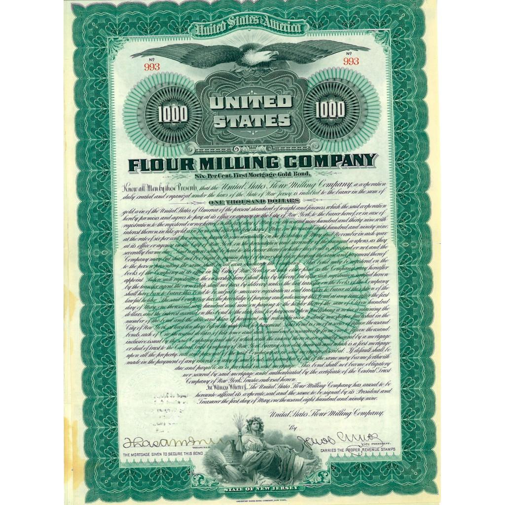 1899 - UNITED STATES FLOUR MILLING...