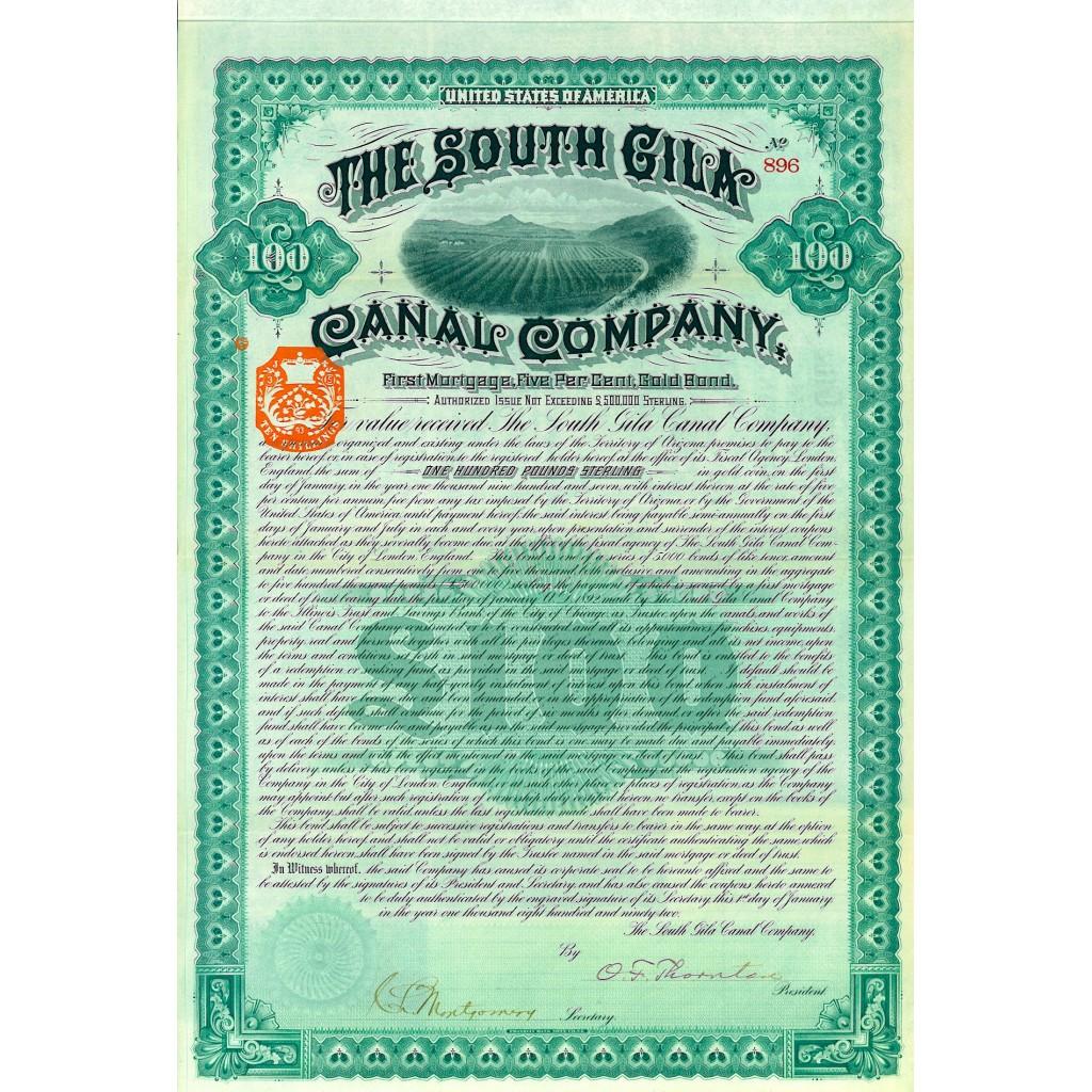 1907 - THE SOUTH GILA CANAL COMPANY...