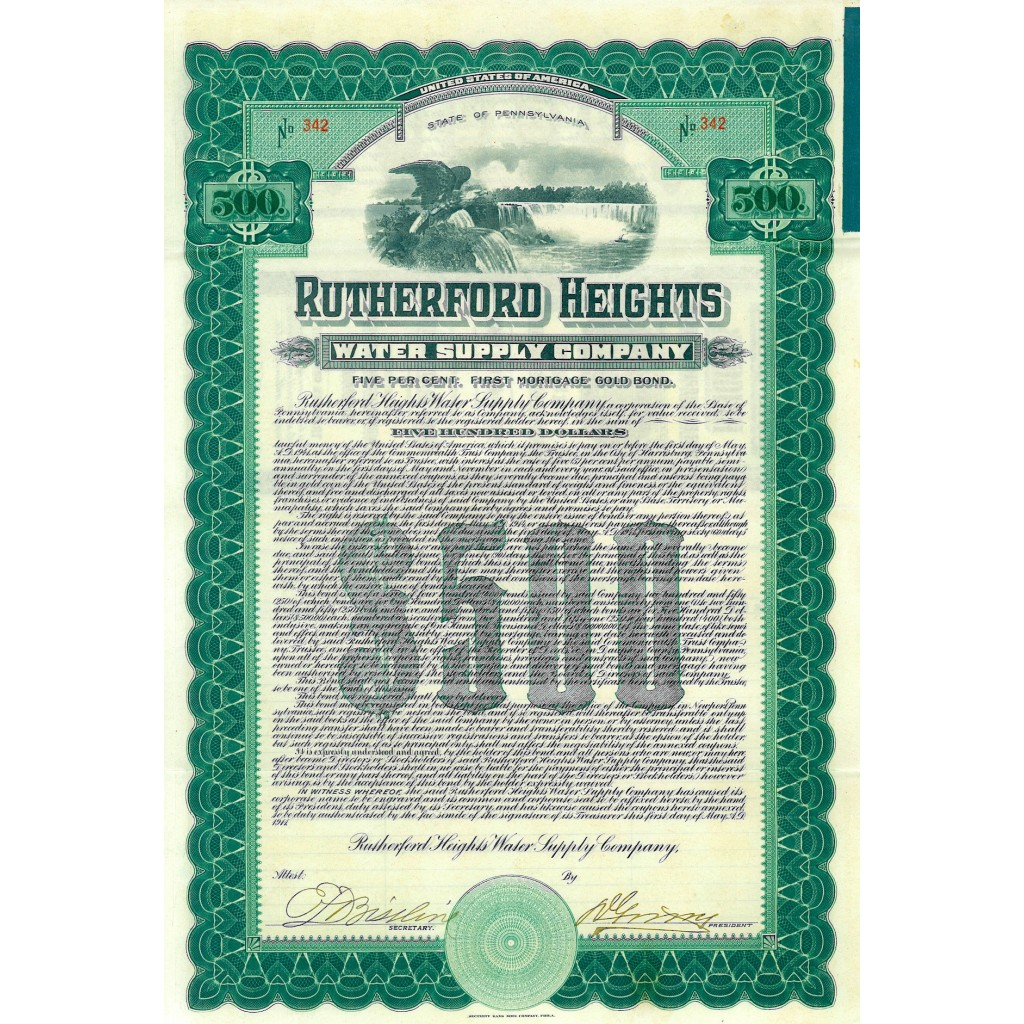 1911 - RUTHERFORD HEIGHTS WATER...