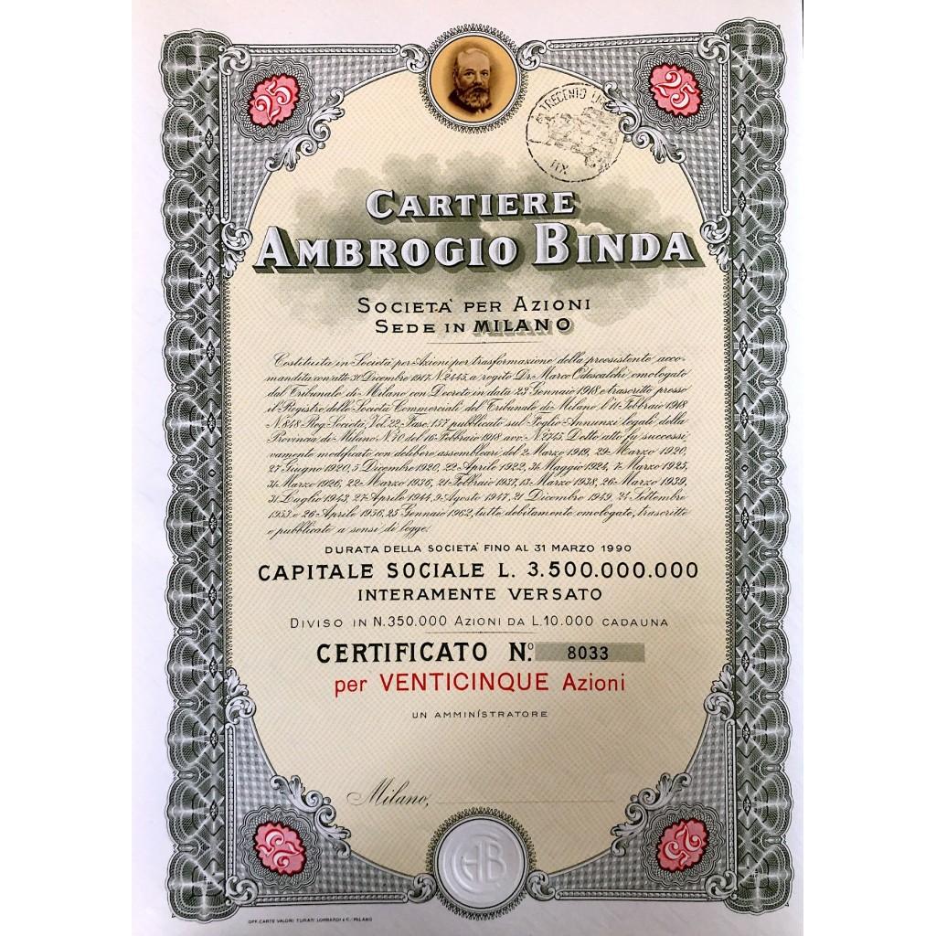 1956 - CARTIERE AMBROGIO BINDA 25...