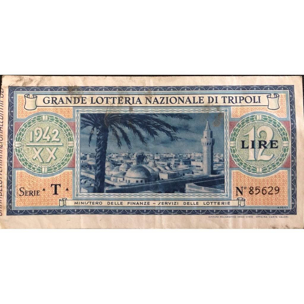 1942 - GRANDE LOTTERIA NAZIONALE DI...