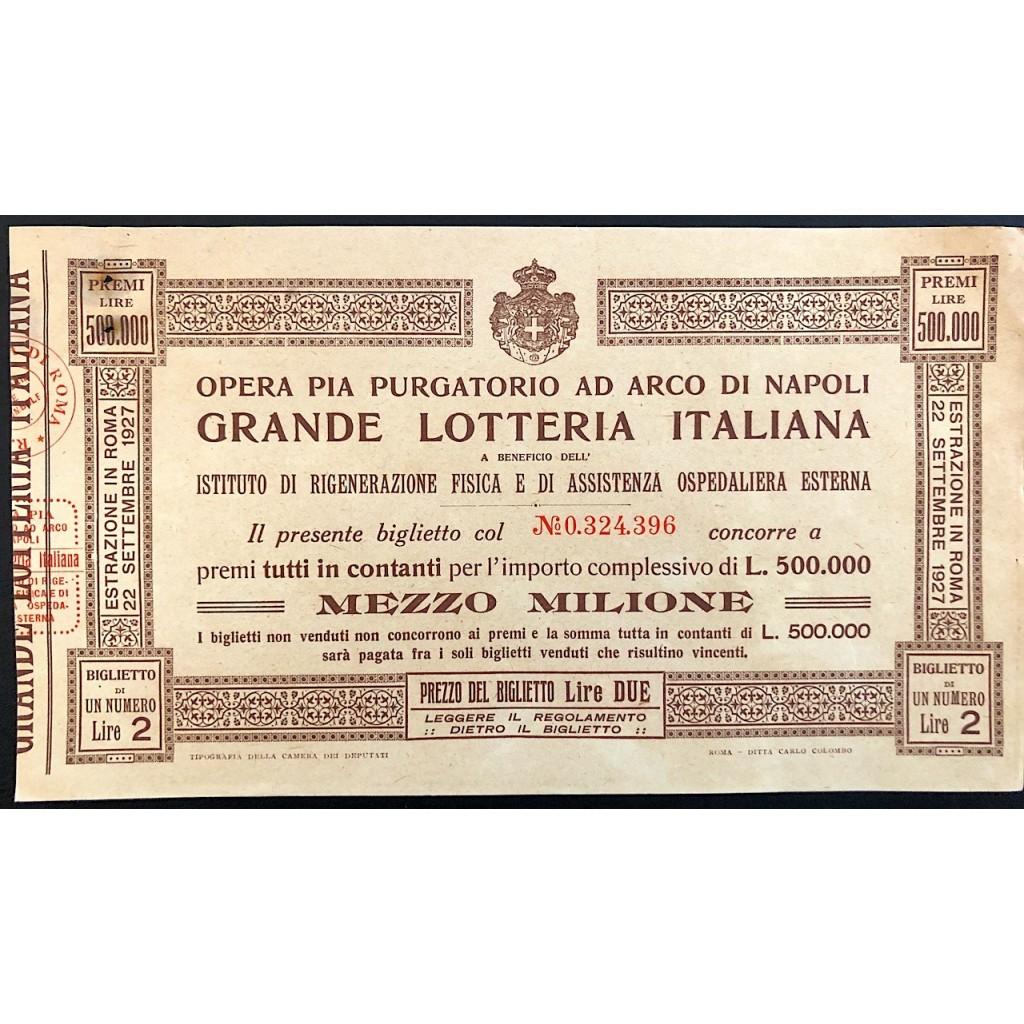 1927 - OPERA PIA PURGATORIO AD ARCO...