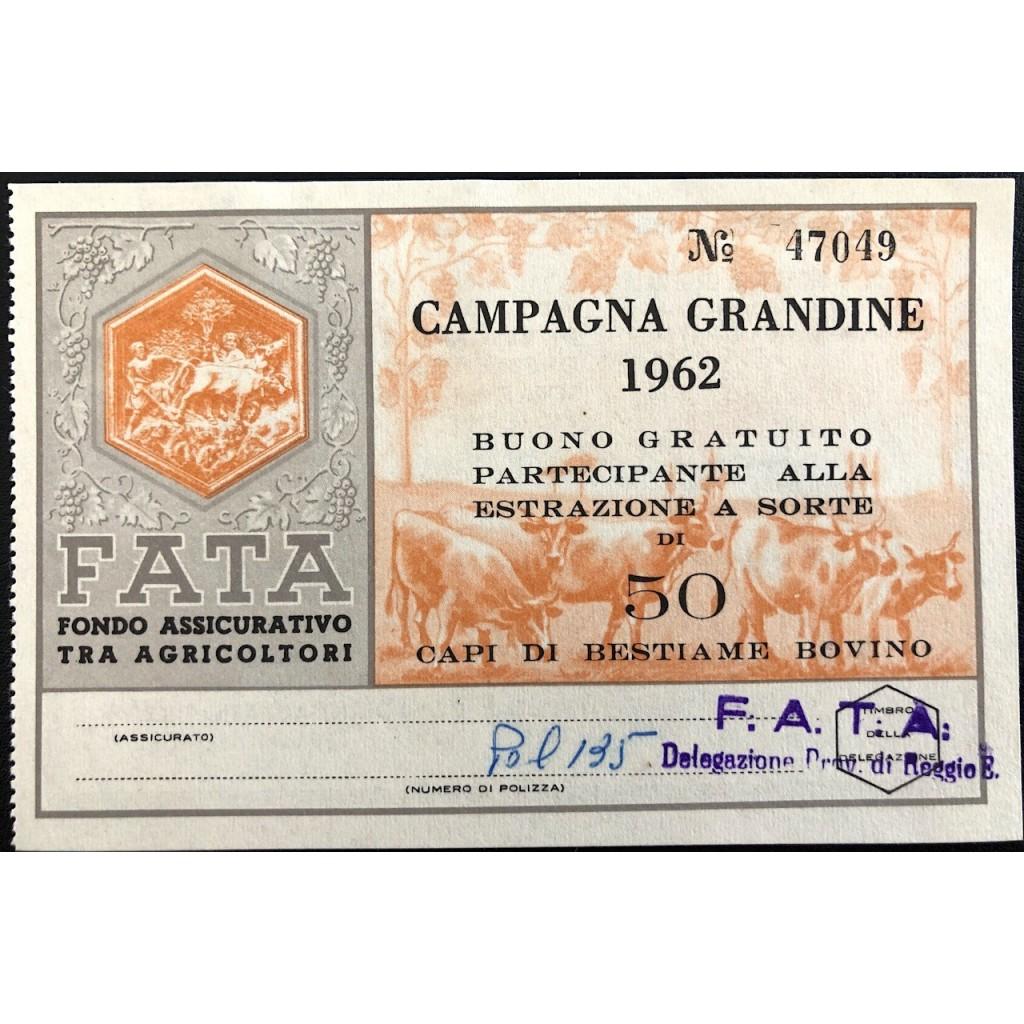 1962 - FATA FONDO ASS.VO AGRICOLTORI...