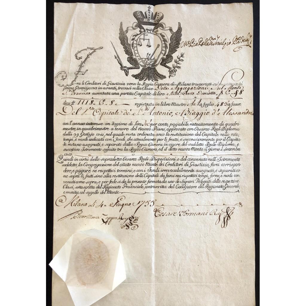 1755 - Nuovo Monte dei Creditori di...