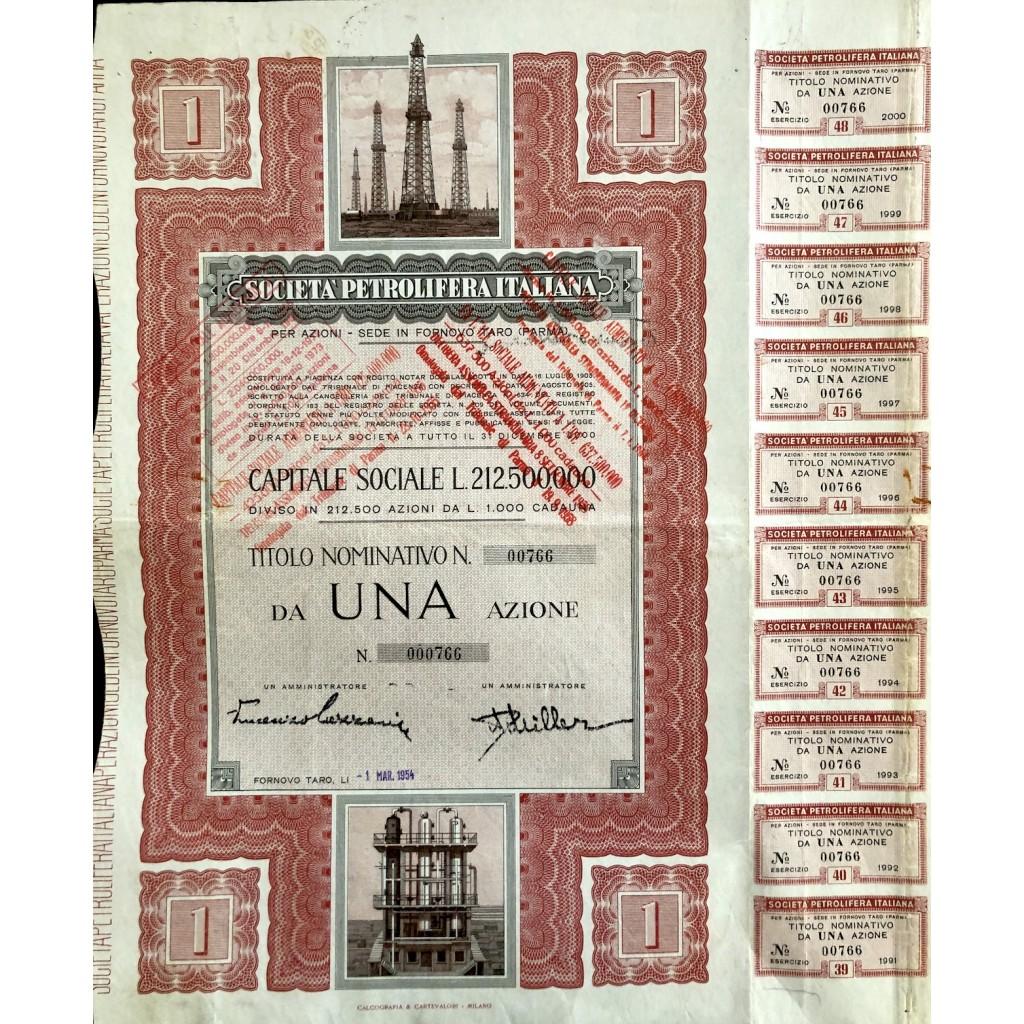 1954 - SOCIETA' PETROLIFERA ITALIANA...